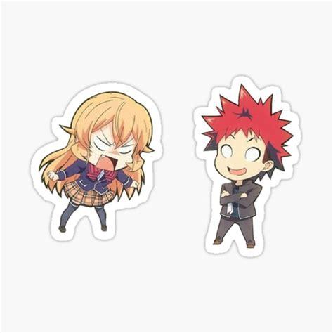 nakiri erina and yukihira souma sticker sticker by mooch