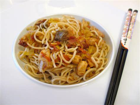 cuisine chinoise nems nouilles chinoises poulet poireaux diet délices