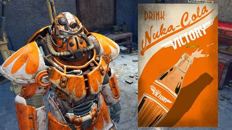 Orange Power Armor Paint Nuka cola Victory Orange