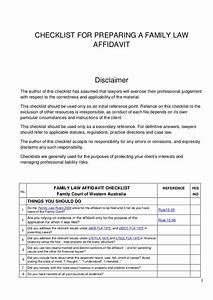 checklist for preparing a family court affidavit With court affidavit template