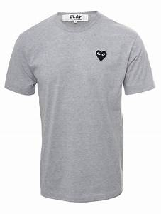 Tee Shirt Comme Des Garçons Homme : play comme des gar ons play mens black heart t shirt grey in white for men black lyst ~ Nature-et-papiers.com Idées de Décoration