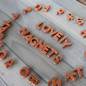 17 best ideas about copper spray paint on pinterest for Letter magnets for adults