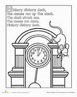 Rhymes Dickory sketch template