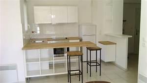 Table De Cuisine Ikea : s paration de cuisine avec kallax ~ Teatrodelosmanantiales.com Idées de Décoration