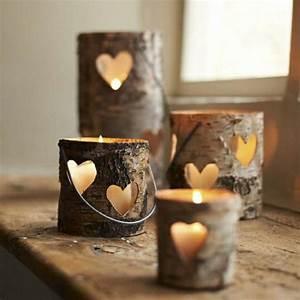 Deko Ideen Kerzen Im Glas : holzstamm deko f r ihr zuhause ~ Bigdaddyawards.com Haus und Dekorationen