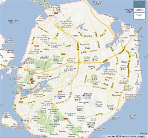 map  gulangyu island xiamen