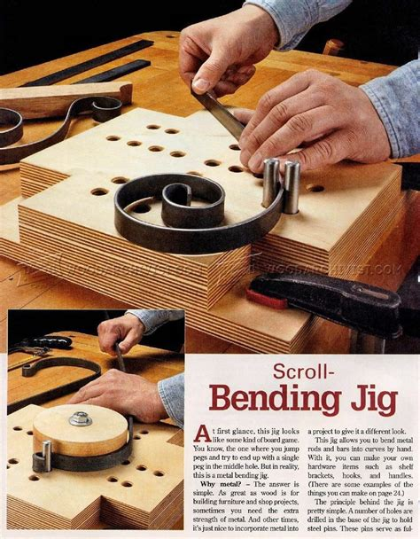 scroll bending jig woodworking tips  techniques