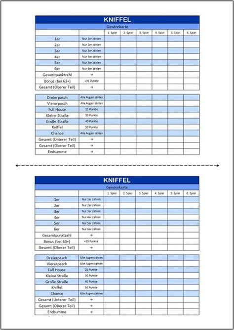Schmidt kniffel extreme kinder spiel ab 8 j kniffelblock zehnseitiger würfel. Kniffel Vorlage (Excel & PDF)