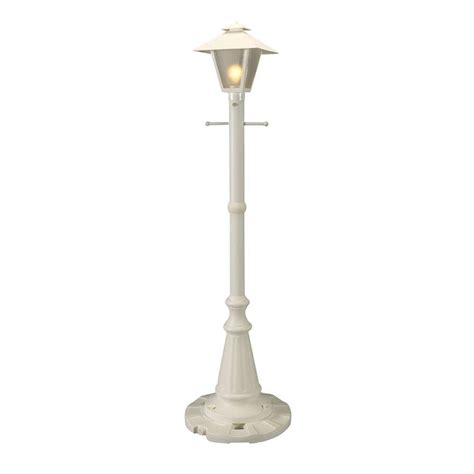 outdoor plug in l post patio living concepts cape cod white outdoor plug in post