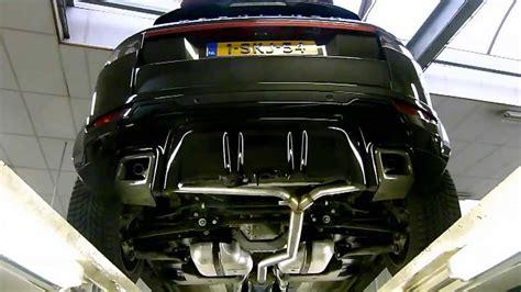 range rover evoque  rvs uitlaat met cutout klep