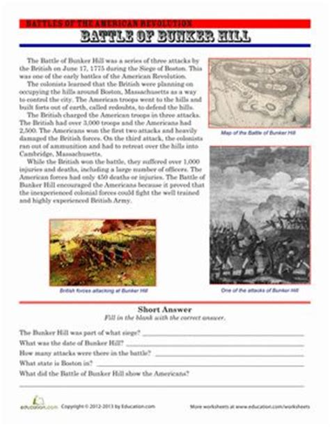 the battle of bunker hill comprehension the o jays and