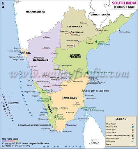 South India Travel Map, South India Tour