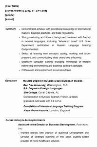 10 college resume template sample examples free With college student resume template