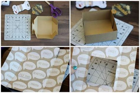 card stock treat box tutorial  template gluesticks