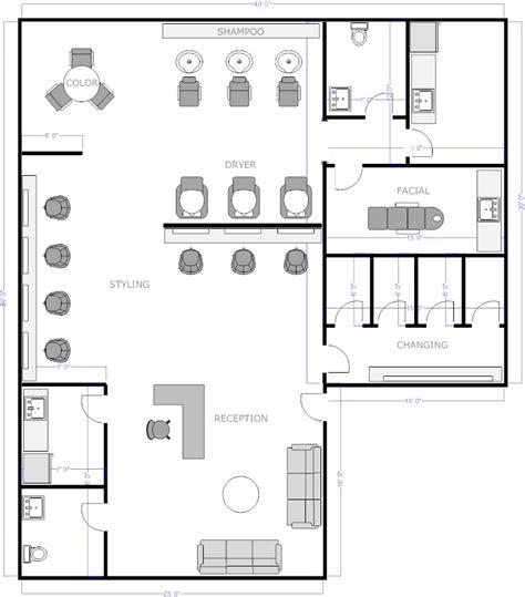spa floor plans free salon floor plans barber shop salons change and room