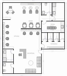 Free salon floor plans barber shop pinterest salons for Hair salon floor plans download