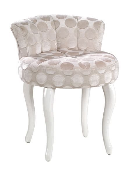Modern Vanity Chairs For Bathroom by Juliet Modern Creme Fabric Vanity Stool