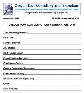 oregon washington roof consulting roof certification With roof certification template