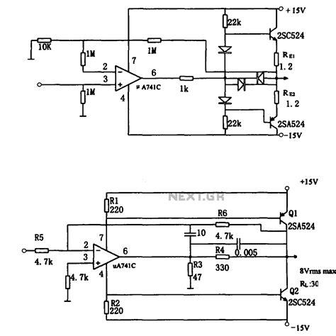 Direct Coupling Audio Power Amplifier Configuration