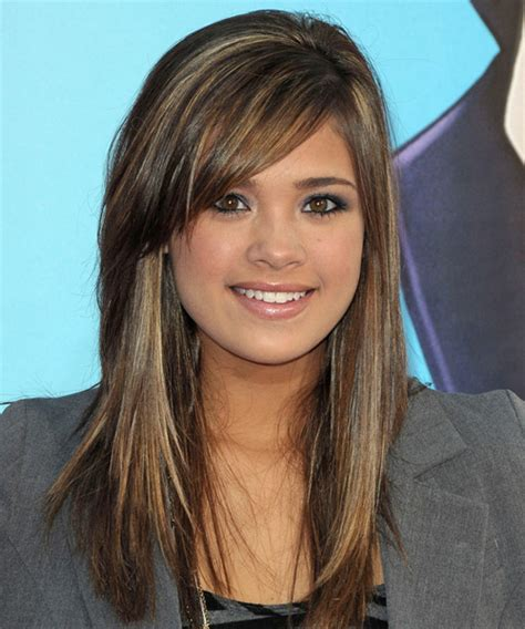 nicole gale anderson casual long straight hairstyle