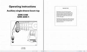 Grove Mobile Crane Gmk6200 Operating Instructions