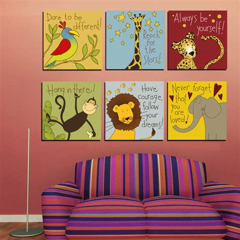 aliexpress buy animals motto canvas painting