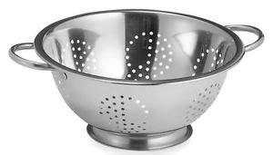 pasta strainer basket focus 2 handle stainless steel 5 qt colander spaghetti 1419
