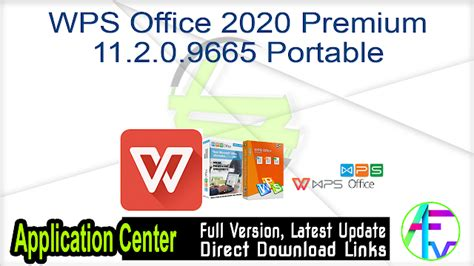 WPS Office 2020 Premium 11.2.0.9665 Portable Free Download