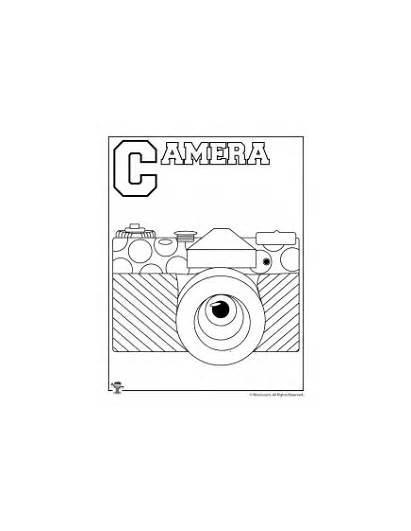 Coloring Letter Pages Worksheets Alphabet Camera Crafts
