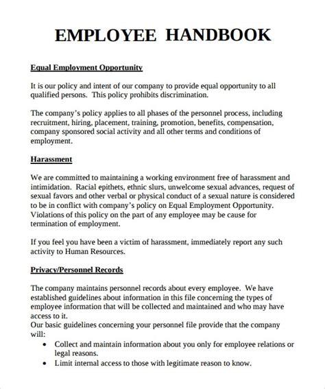 Employee Handbook Template Employee Handbook Template Beepmunk
