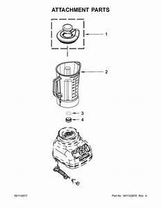 Kitchenaid Model 5ksb1565eob0 Blender Genuine Parts
