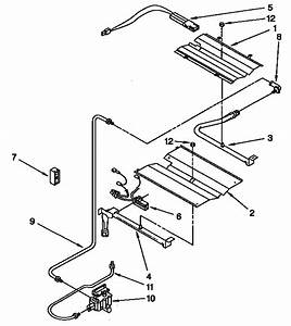 Broiler And Oven Burner Diagram  U0026 Parts List For Model