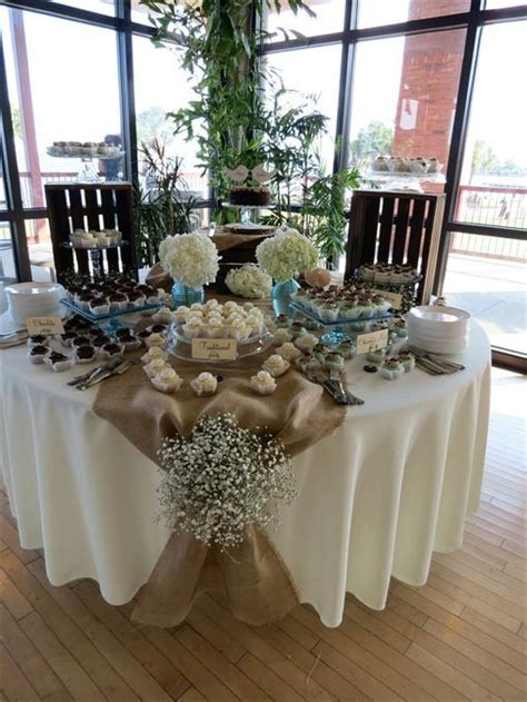 burlap rustic table decorations shabby chic wedding