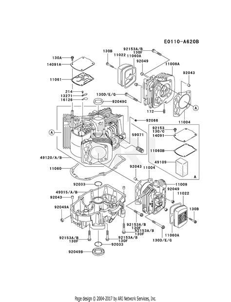 kawasaki fhv cs  stroke engine fhv parts diagram