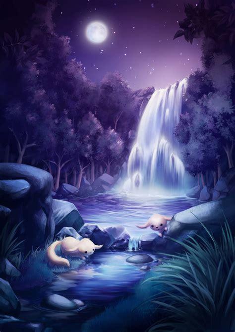 moon pool  goldfishkang  deviantart