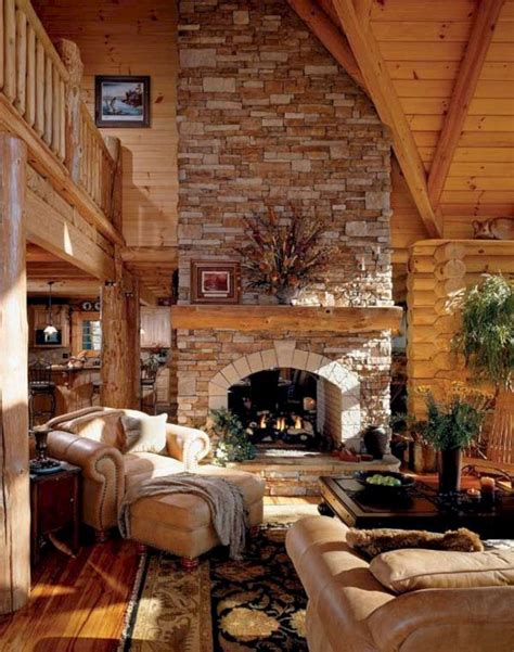 superb cozy  rustic cabin style living rooms ideas freshouzcom log home living home