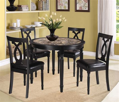 casual dining room design with 5 piper espresso