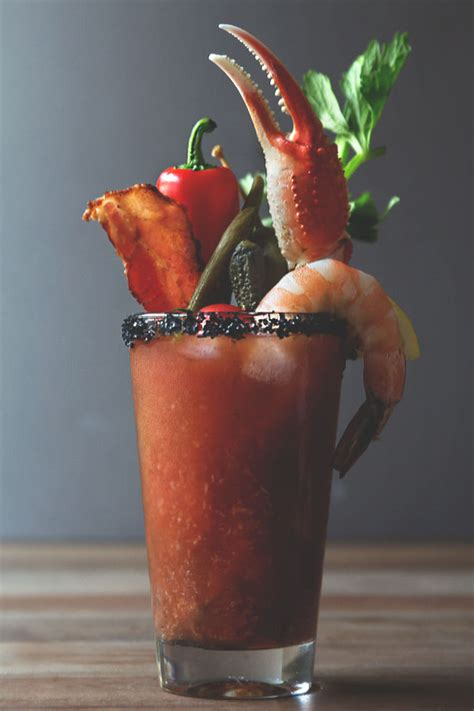 seafood cocktail garnishes bloody mary