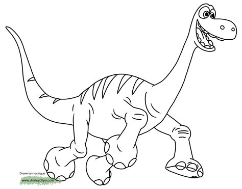 good dinosaur coloring pages disneyclipscom