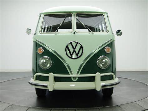 volkswagen hippie van front 1963 67 volkswagen t 1 deluxe bus van classic rs wallpaper