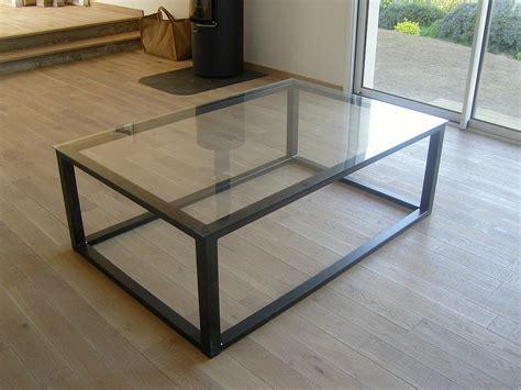 Table Basse Metal Et Verre Table Basse Blanc Et Noir