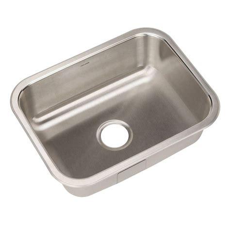 stainless steel undermount kitchen sink single bowl houzer elite series undermount stainless steel 23 in 9786