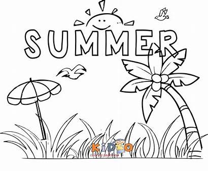 Summer Coloring Pages Printable Holidays Holiday