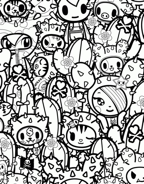 Tokidoki Coloring Pages  Coloring Home