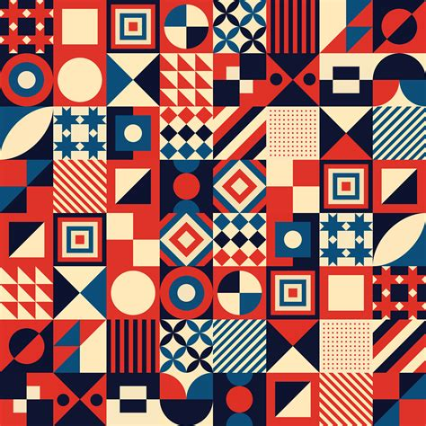 Colorful Vintage Geometric Mosaic Background Png