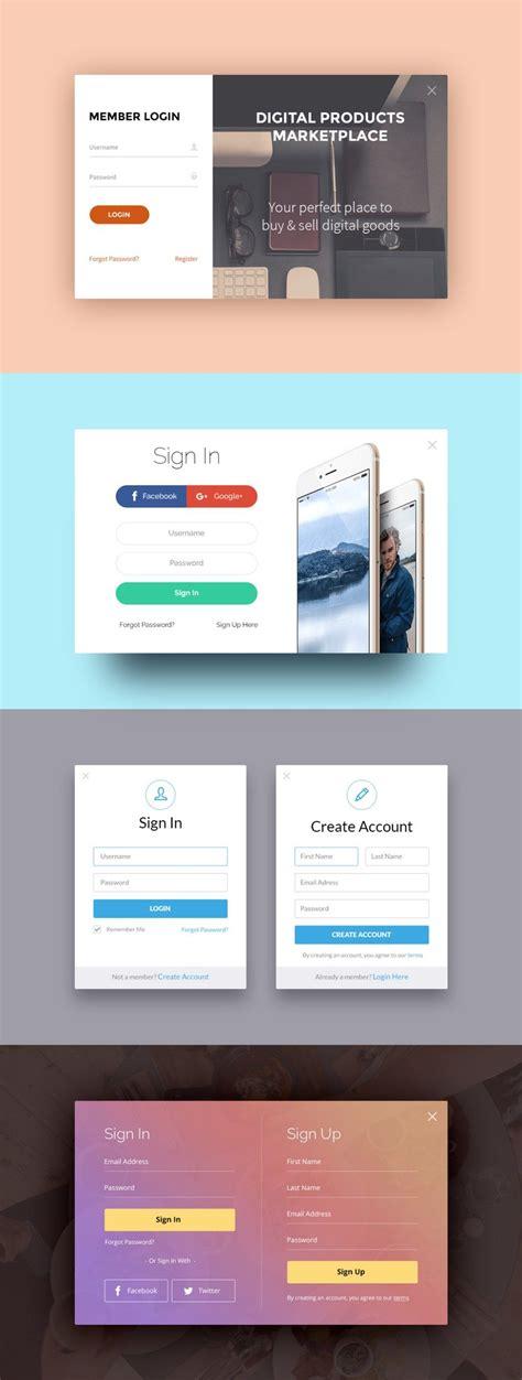 sign   login forms application design login