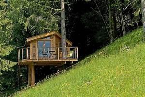 Cabane Dans Les Arbres Construction : la cabane dans les arbres et le chalet dans les arbres savoie mont blanc savoie et haute ~ Mglfilm.com Idées de Décoration
