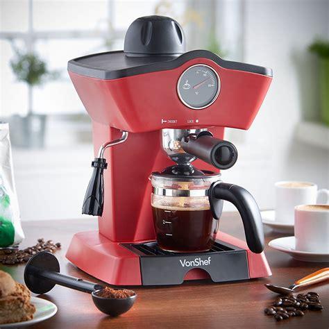 Tips & guide on choosing espresso makers. Vonshef 13/190 4 Bar Espresso & Coffee Maker for 220/240 Volts