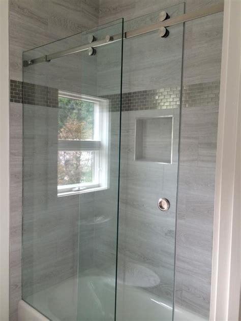 rolling shower doors enclosures frameless glass shower