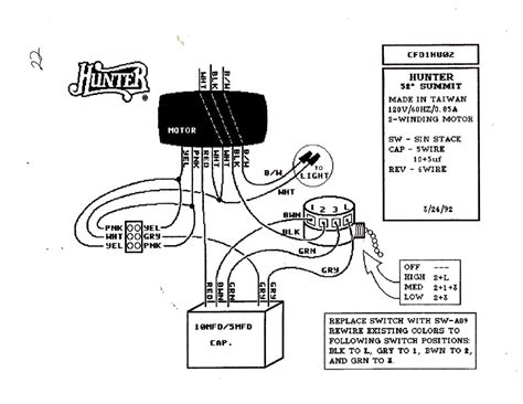 Hunter Speed Fan Control Light Dimmer Wiring Diagram